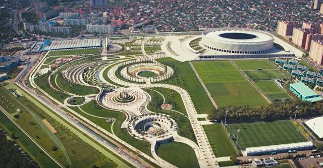 Миллиардер Сергей Галицкий построил в Краснодаре огромный красивый парк за свои деньги