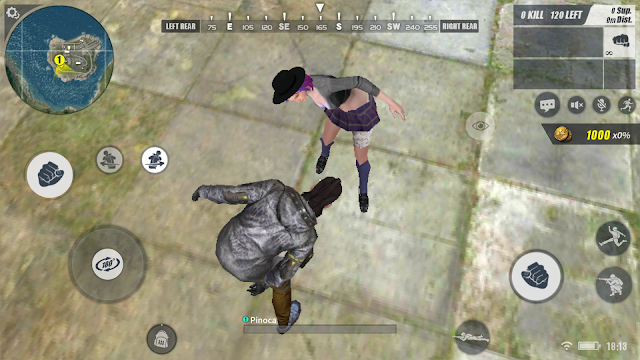 Menggunakan Gyroscope HP di Rules of Survival