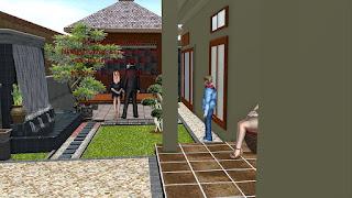 desain taman dan water wall | www.jasataman.co.id