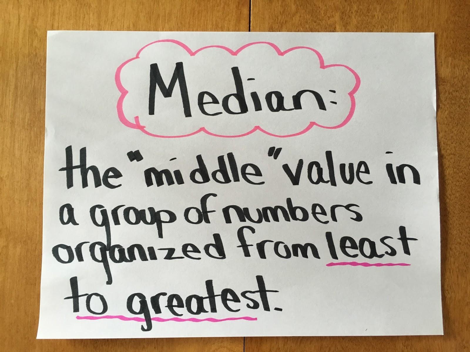 mean median mode activity pdf