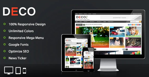 Deco Mag Template Blogger Responsive
