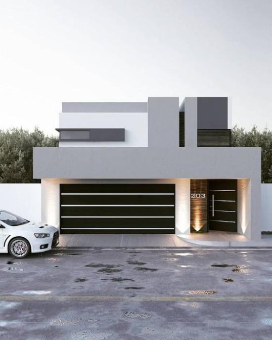 desain rumah minimalis dengan atap dak beton