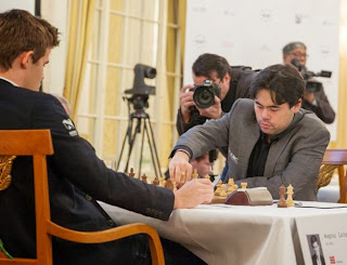 Échecs ronde 3 : Nakamura 0-1 Carlsen au Zurich Chess Challenge - Photo © site officiel