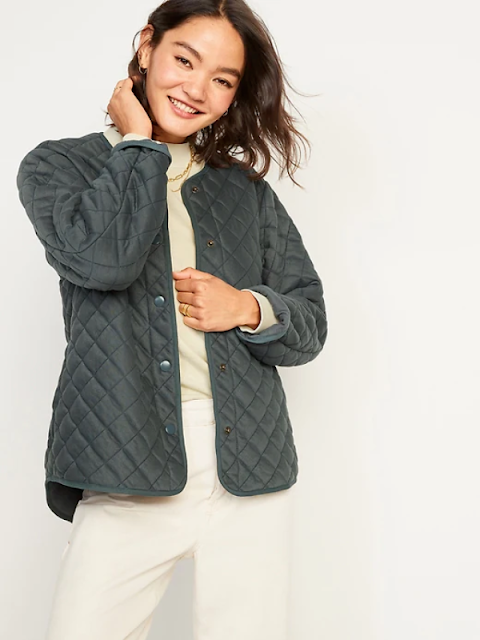 old navy women quilted jacket