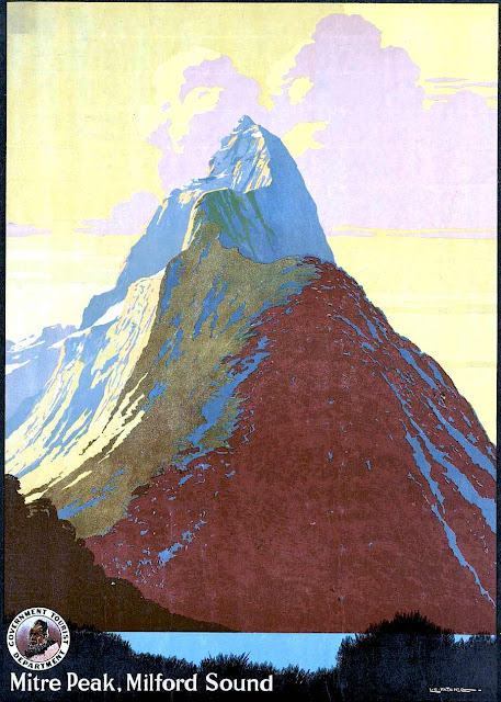 Mitre Peak Milford Sound poster