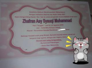 undangan aqiqah zhaf