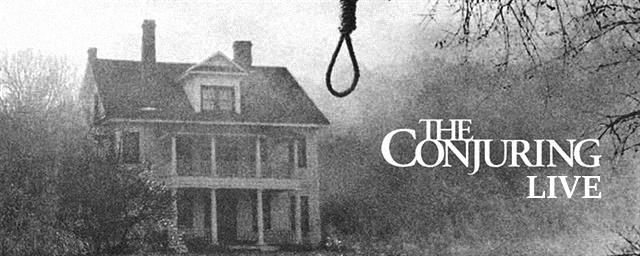 Ilustração do evento de transmissão ao vivo que ocorrerá na casa do filme Invocação do Mal.