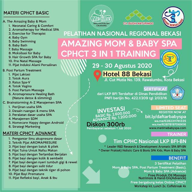 Info Pelatihan Nasional Training Baby Spa Bekasi