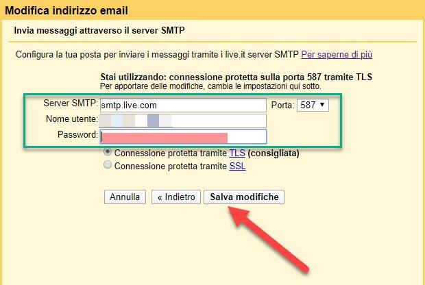 messaggi con mittente outlook da gmail