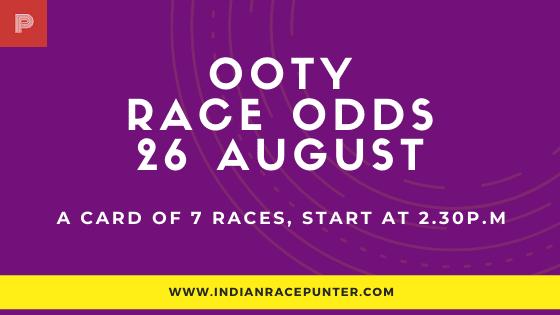 Chennai-Ooty Race Media Tips 26 August