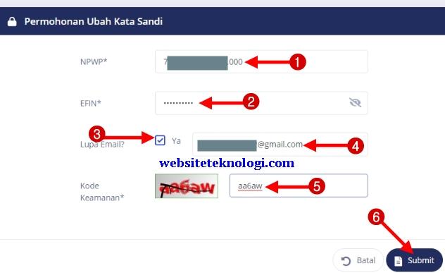 Cara Mengatasi Lupa Password dan Email DJP Online