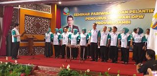 Gubernur Jambi Menghadiri Pelantikan DPW GENPPARI Jam i