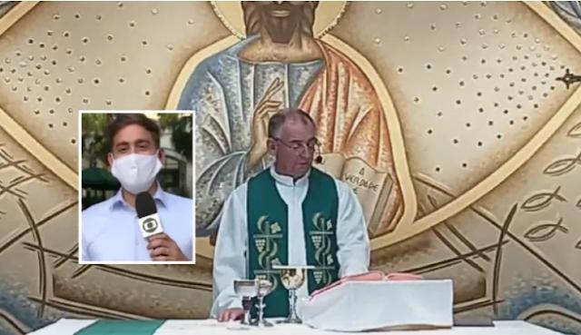"""Padre chama repórter da Globo de """"viadinho"""" durante missa"""