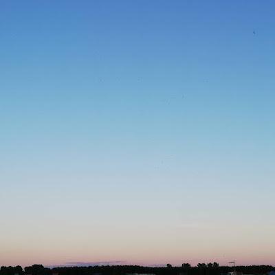 Spiegeling zonsondergang