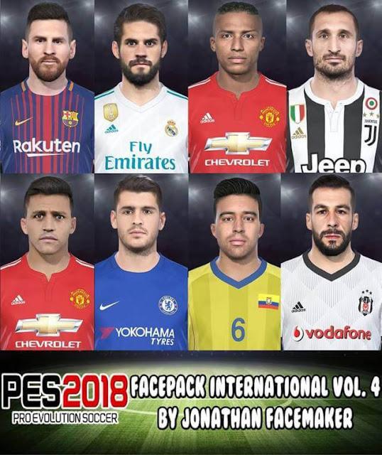 Facepack International Vol. 4 PES 2018