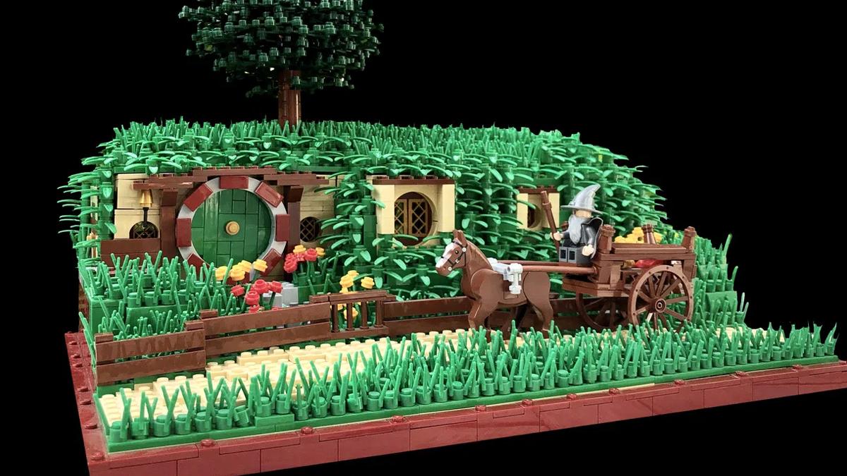 レゴアイデアで『フロド・バギンズとビルボ・バギンズのホビット穴』が製品化レビュー進出!2021年第1回1万サポート獲得デザイン紹介
