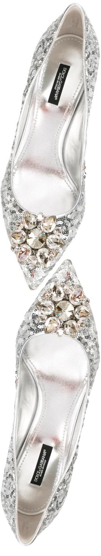 Dolce & Gabbana Belluci Pump in Silver