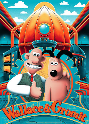 Wallace and Gromit Fine Art Giclee Print by Arno Kiss x Vice Press