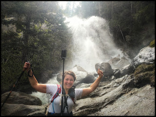 Me in front of the Top Section of Bells Canyon Waterfall