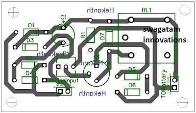 single transistor battery charger circuit PCB layout design