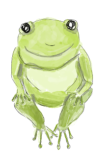 Free frog clip art-image of green frog