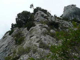 La ola de Egino, escalada Izarraitz Montaña