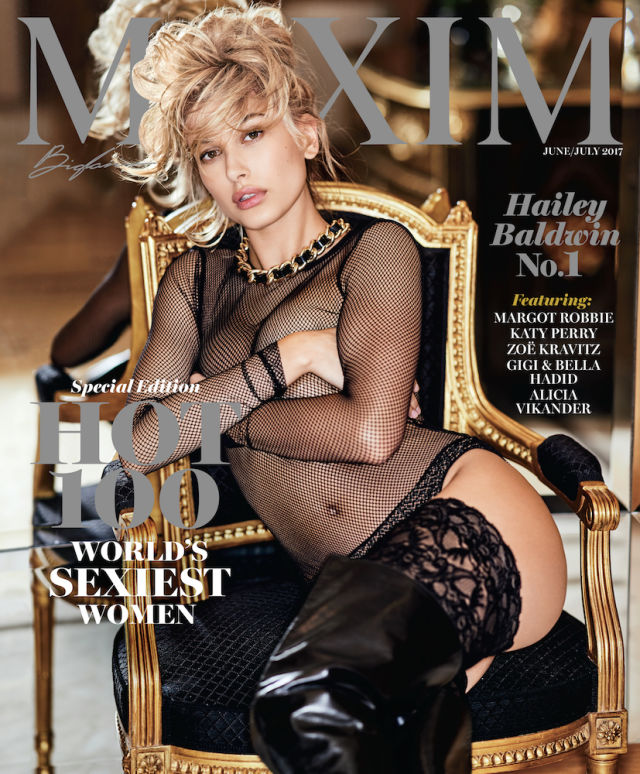Hailey Baldwin Maxim Hot 2017 Cover