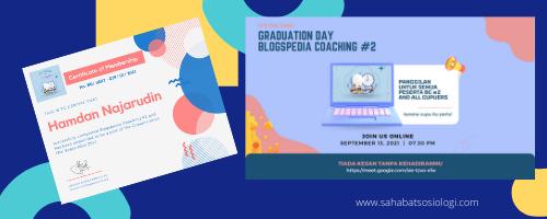 graduation blogspedia coaching batch 2