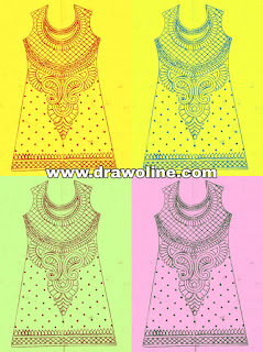 How to draw Salwa kameez design paper, latest design for women kameez design,