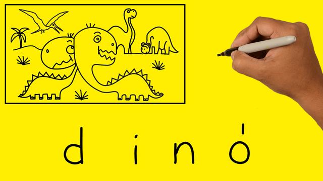 Szavakból rajzok – DINÓ