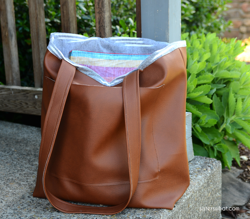 how to sew a faux leather bag sewing tutorial