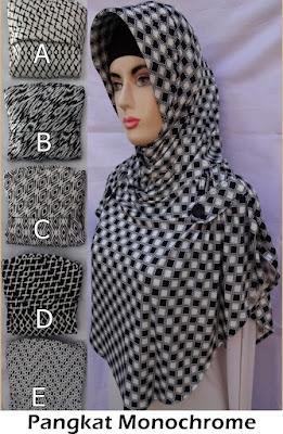 Grosir Jilbab Pangkat Monochrome