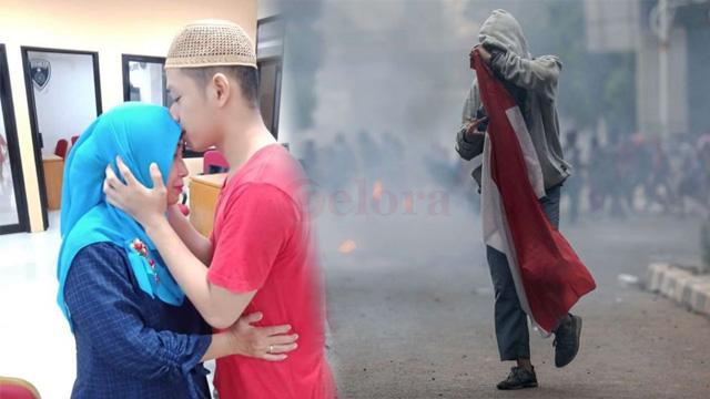 Luthfi Si Pembawa Bendera Saat Demo Menanti Persidangan