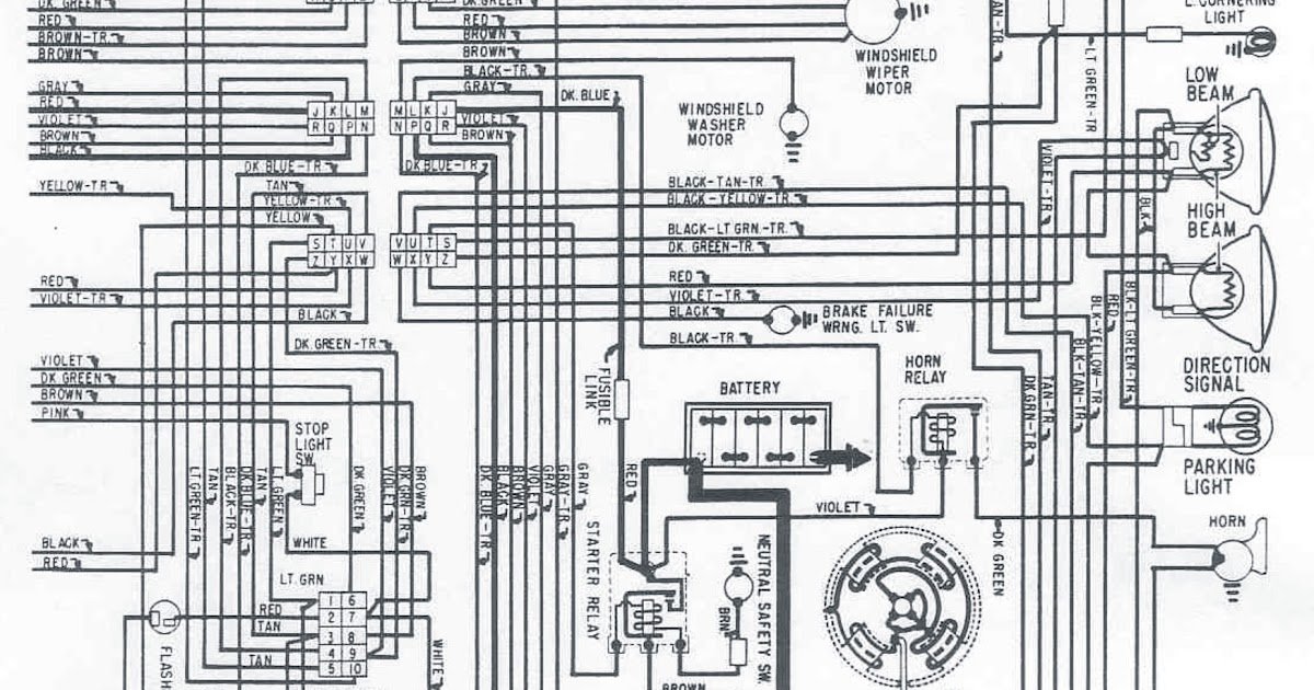 1968's Chrysler All Models Electrical Wiring Diagram