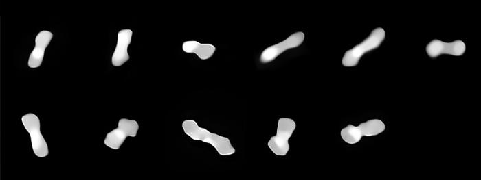 novas e melhores imagens do asteroide cleopatra
