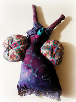 Back View of Purple Dreaming Butterfly Whimsy Women Spirit Doll