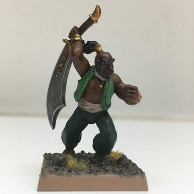 Arabyan warrior with scimitar