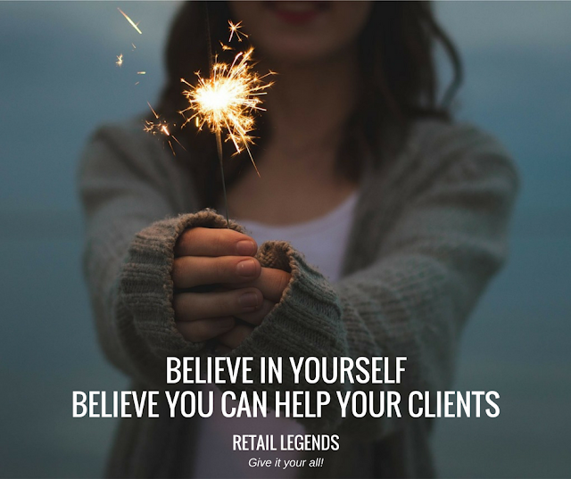 Believe in yourself, believe that you can help your clients sales inspiration