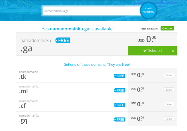 daftar domain freenom yang masih tersedia