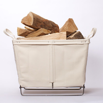 canvas log basket