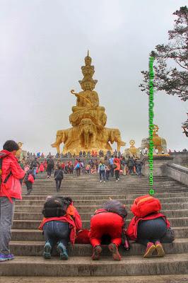 puxian pusa (samantabhadra bodhisattva), Emeishan or Mount Emei, Sichuan, China