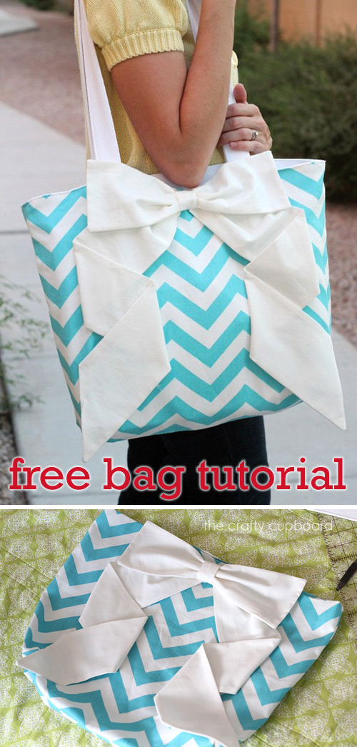 Zig Zag Big Bow Bag Tutorial
