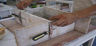 Procedimiento para realizar un macetero de piedra u hormigón para interiores