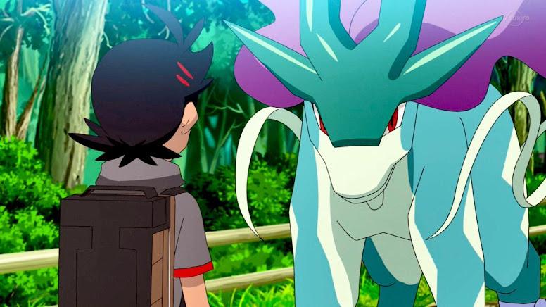 Goh e Suicune Jornadas Pokémon