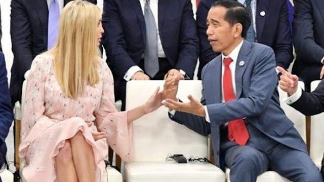 Heboh! Jokowi Bicara Apa ya Sama Ivanka Trump