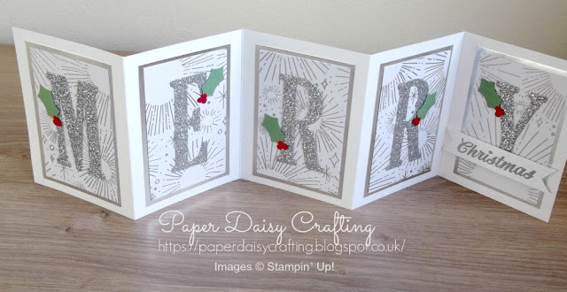 Stampin Up Large Letter dies for Christmas