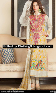 Range Embroidered Lawn Collection 2015 Vol.5