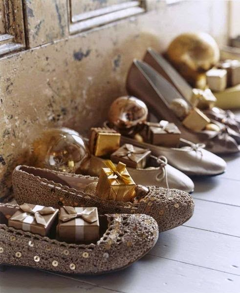 Shoes, left out, waiting for gifts from Saint Nicholas