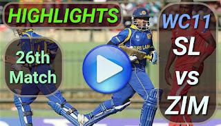 SL vs ZIM 26th Match