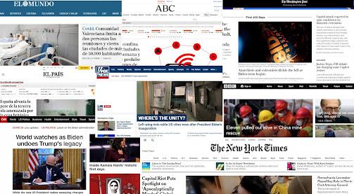 imagen con vistas de prensa de diferentes partes del mundo